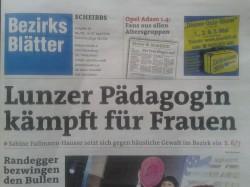 Titelblatt Bezirksblätter